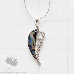 new zealand paua shell silver fern jewellery