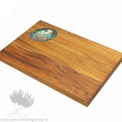 New Zealand rimu paua shell cheeseboard