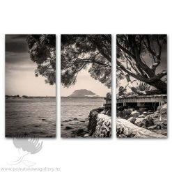 Kirk O'Donoghue Canvas Print - Te Puna Triple Set Mount Maunganui Mt