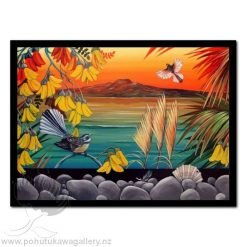 Rangitoto Sunset by Irina Velman - Art Prints New Zealand