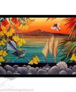 Rangitoto Sunset by Irina Velman - Art Prints New Zealand