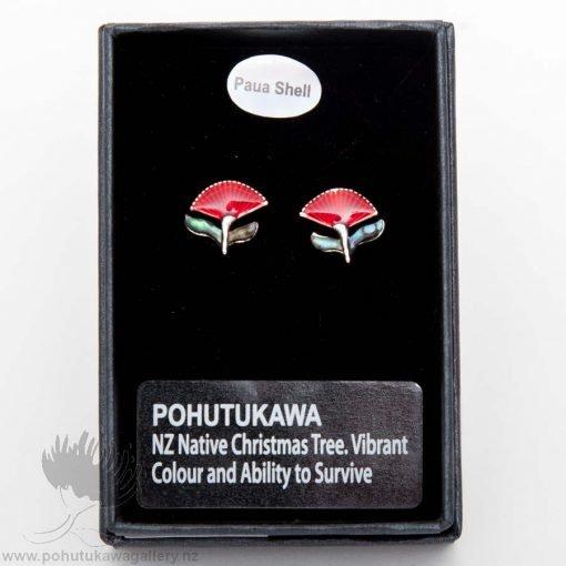 new zealand pohutukawa earrings