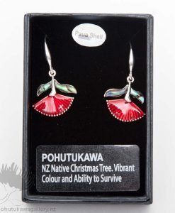 new zealand pohutukawa earrings