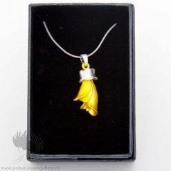 new zealand kowhai pendant