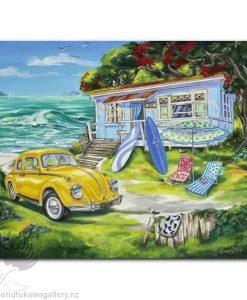 Caren Glazier Print Summer Holiday Beetle Summer