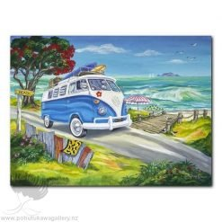 Caren Glazier Print Summer Holiday Gone Surfing