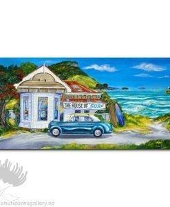 Caren Glazier Print Summer Holiday House Of Surf