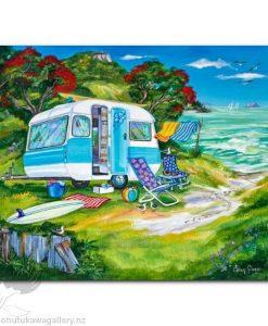 Caren Glazier Print Summer Holiday Happy Campers
