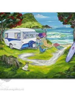 Caren Glazier Print Summer Holiday Seaside Holiday