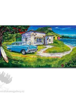 Caren Glazier Print Summer Holidays Chevy Summer