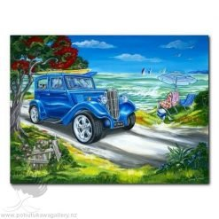 Caren Glazier Print Summer Holidays Blue Ride