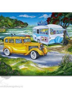 Caren Glazier Print Summer Holidays Ocean Breeze