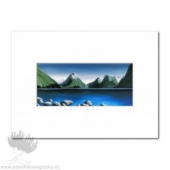 Diana Adams - Mitre Peak, Milford Sound | Matted Art Print