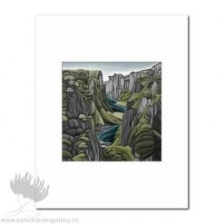 Diana Adams - The Chasm | Matted Art Print