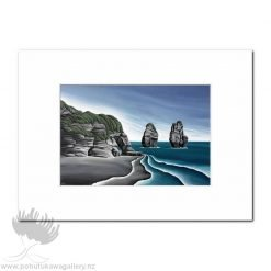 Diana Adams - Taranaki Cliffs | Matted Art Print