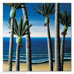 Diana Adams - Nikau Palms | Box Frame Print