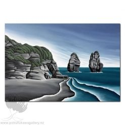 Diana Adams - Taranaki Cliffs | Box Frame Print