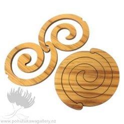 Scroll Rimu Koru Coaster Set - Giftware