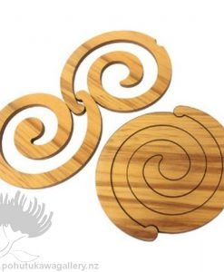 Scroll Rimu Koru Coaster Set - Giftware