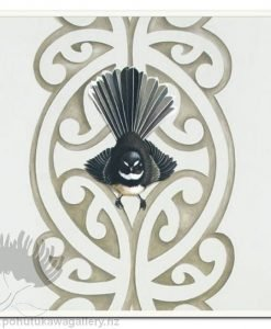 Piwakawaka's Kowhaiwhai (detail) by Jane Crisp - Fantail Art Prints New Zealand