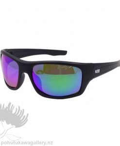 TRADIES Sunnies Moana Road NZ Black reflective Sunglasses