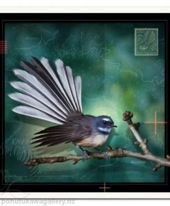 Fantail by Julian Hindson - Art Prints New Zealand NZ