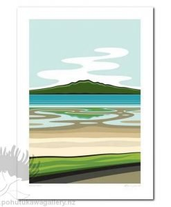 Rangitoto Art Print Glenn Jones NZ