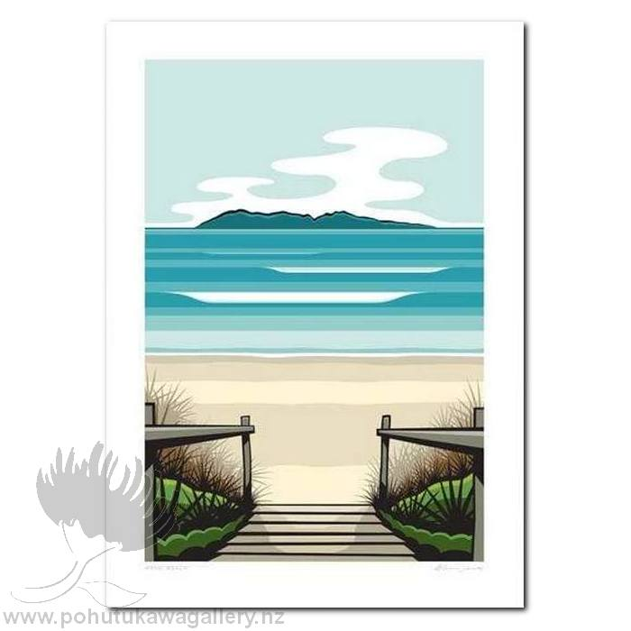 Waihi Beach Art Print NZ