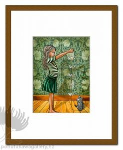 Origami Birds by Mandy Williams - Cat Matted Art Prints New Zealand