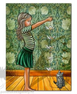 Origami Birds by Mandy Williams - Cat NZ Art Prints New Zealand