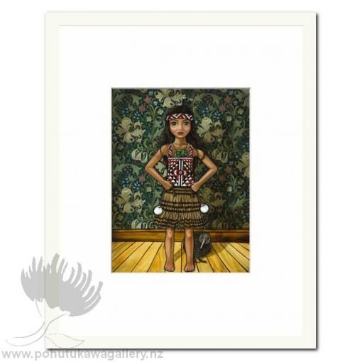 Pride (MW) by Mandy Williams - Poi Matted Art Prints New Zealand