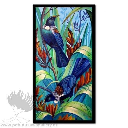 In The Flax by Irina Velman - Art Prints New Zealand Tui NZ