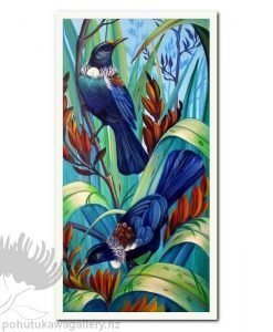 In The Flax by Irina Velman - Art Prints New Zealand Tui NZ