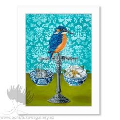 Angie Dennis Kingfisher NZ Art Prints Fine Balance