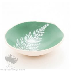 Porcelain bowl new zealand ceramics Fern NZ