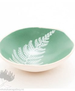 Porcelain bowl new zealand ceramics Fern NZ