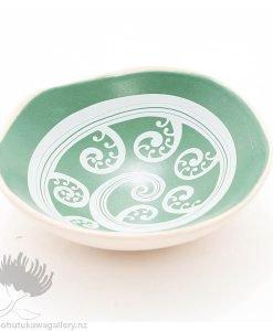 Porcelain bowl new zealand ceramics Koru Fern NZ