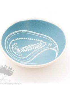 Porcelain bowl new zealand ceramics NZ Blue Kiwi
