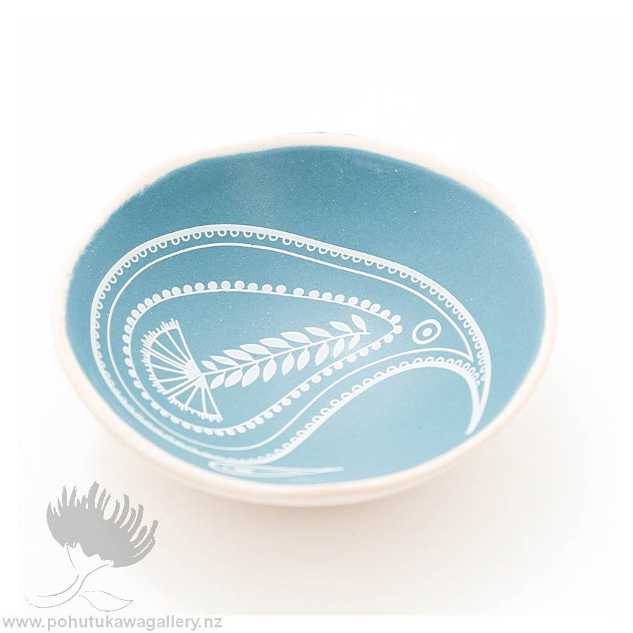 Porcelain bowl new zealand ceramics NZ Blue Kiwi
