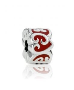 Evolve charm Koru Heart Clip NZ Sterling Silver