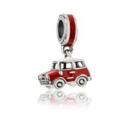 Evolve charm NZ Retro Mini Cooper Road Trip Sterling Silver