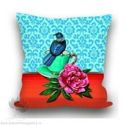 Cushion Cover Tui Teacup New Zealand Gifts