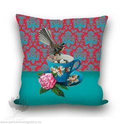 Cushion Cover Fantail Teacup NZ Gifts