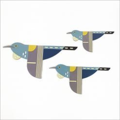 Printed ACM Birds Set: Folk Tui