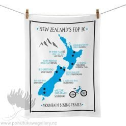 Moana Road Tea Towel - NZ Mountain Biking Trails