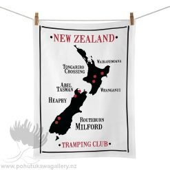 Moana Road Tea Towel - NZ Tramping Club