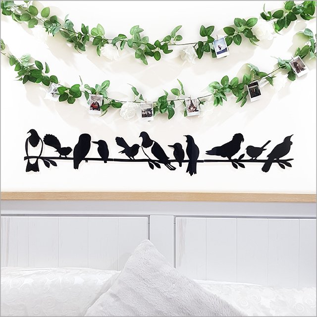 NZ Birds on Branch