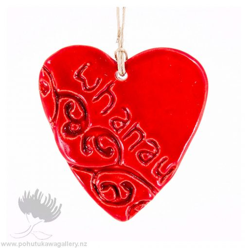 new zealand handmade ceramic heart