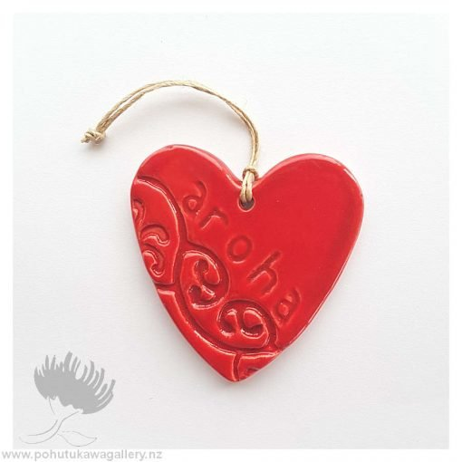 new zealand handmade ceramic heart