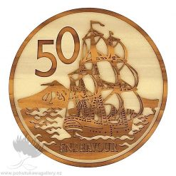 50 Cent Coin NZ wall art gift